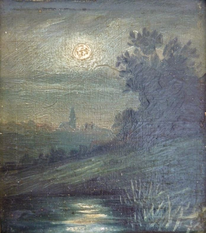 Čáslav za svitu měsíce