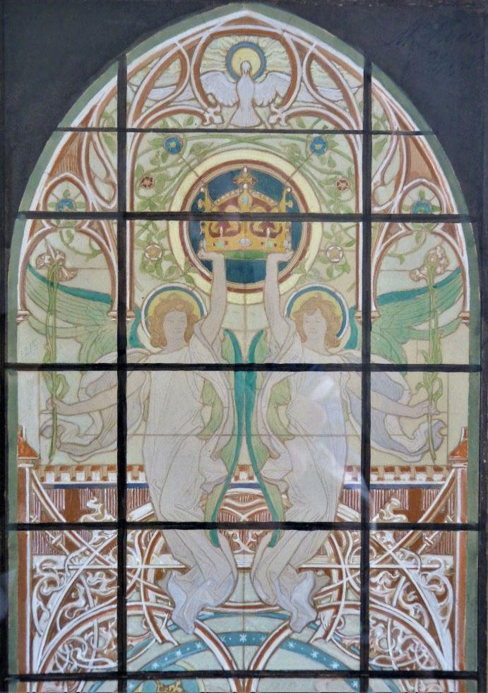 Vitrážové okno kostela v Písku